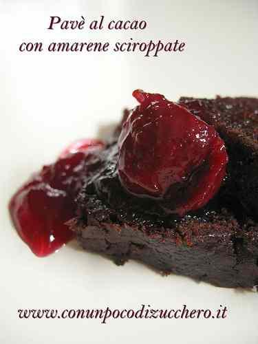 Ricetta: Pave al cacao con amarene sciroppate