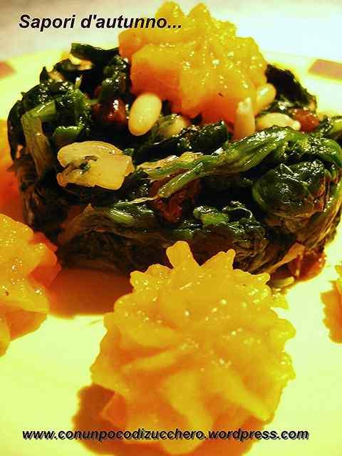 Ricetta: Contorno d'autunno con zucca e spinaci