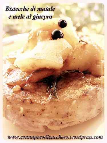 Ricetta: Bistecche di maiale e mele al ginepro