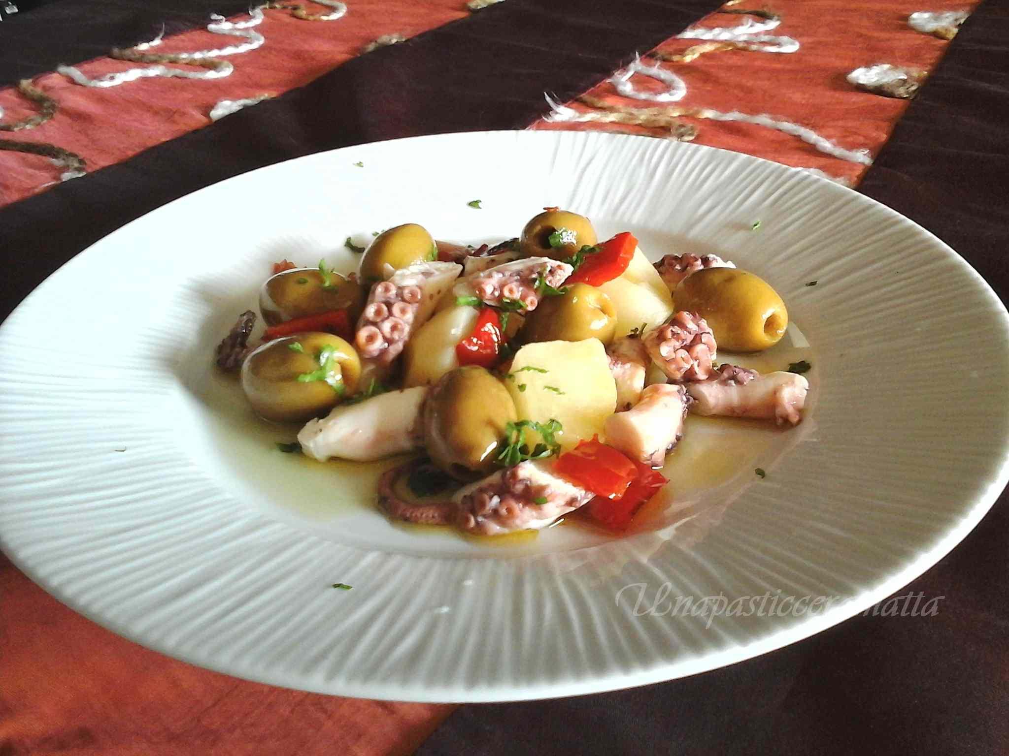 Ricetta: Insalata di polpo olive e patate