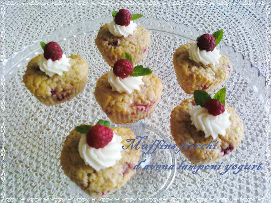 Ricetta: Muffins fiocchi d avena lamponi yogurt