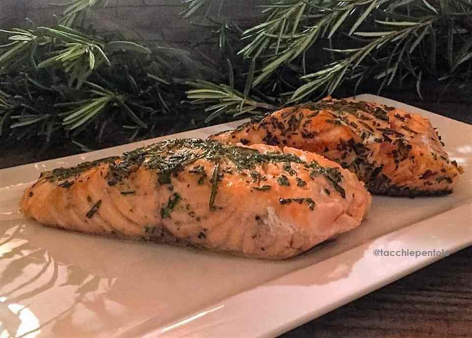 Ricetta: Filetti di salmone alle erbe, cottura in forno