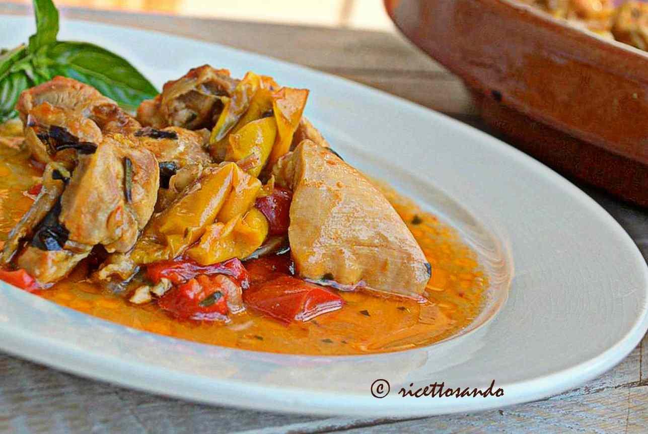 Ricetta: Bocconcini di pollo ai peperoni