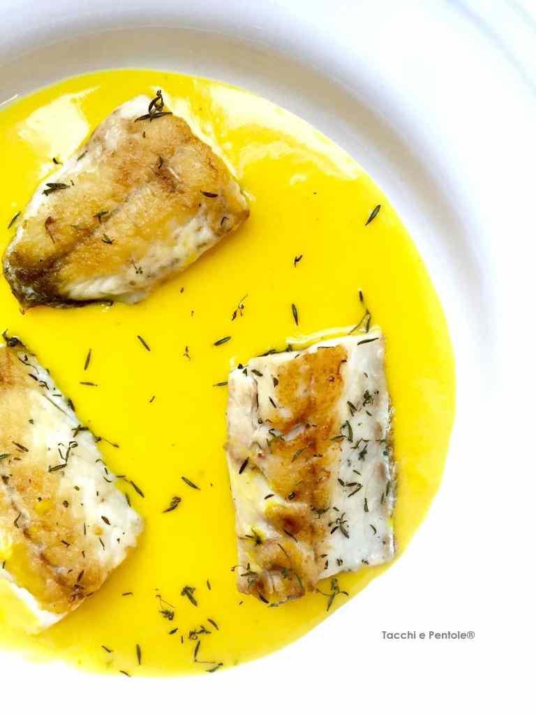 Ricetta: Filettini di branzino in salsa allo zafferano