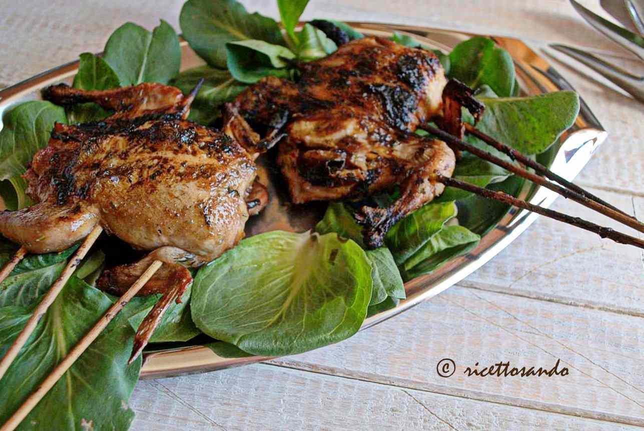 Ricetta: quaglie grigliate sul barbecue
