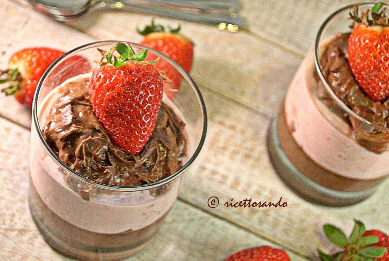 Ricetta: Tumbler di crema al cioccolato mascarpone e fragole