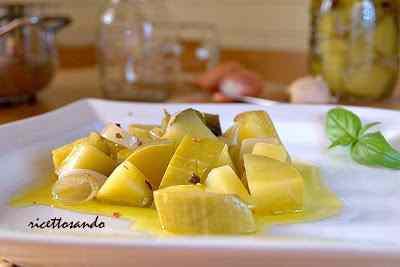 Ricetta: Antipasto di zucchine sottovetro