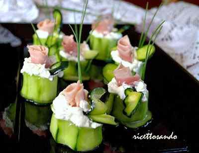 Ricetta: Bocconcini di cetrioli e prosciutto