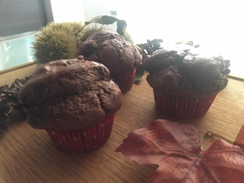 Ricetta: Muffin al cioccolato fondentecon petite di cioccolato... Fondente!