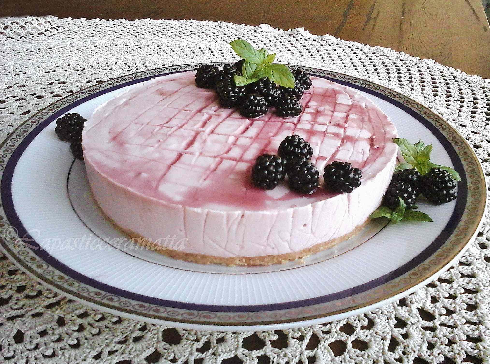 Ricetta: Cheese cake alle more senza cottura