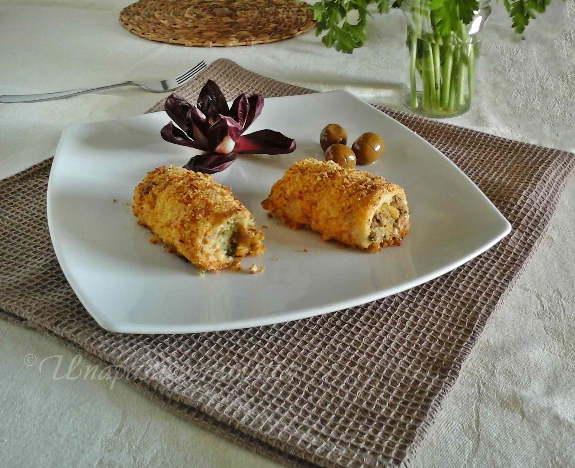 Ricetta: Rotolini di merluzzo ripieni al forno