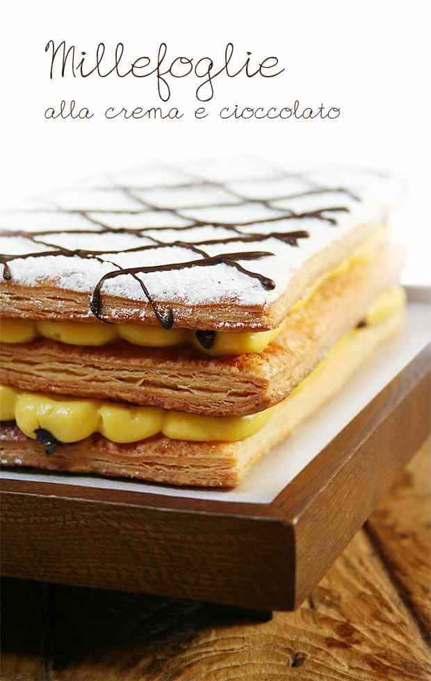 Ricetta: Millefoglie alla crema e cioccolato