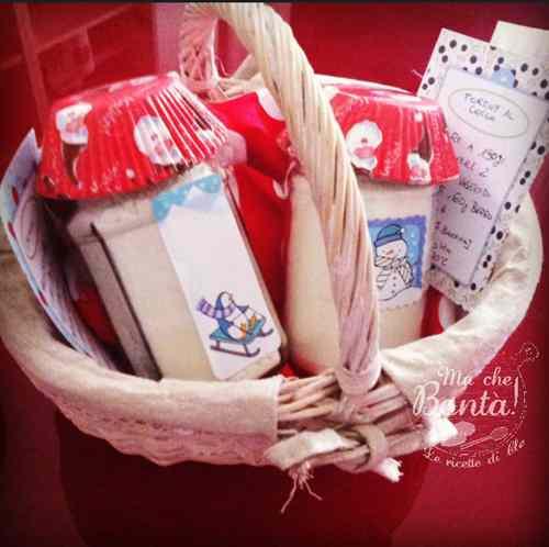 Ricetta: Idea regalo: preparato per muffin al cocco (anche vegan) - Edible christmas gift: coconut muffin in a jar