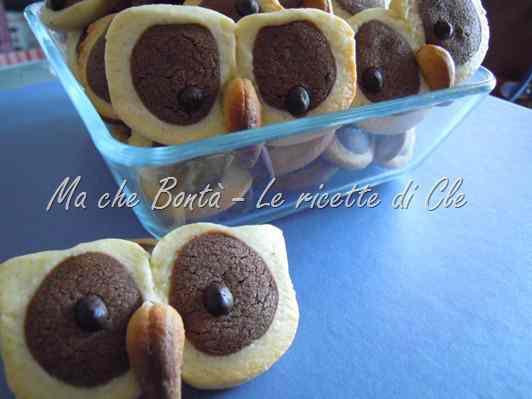 Ricetta: Biscotti gufo (hoot owl cookies)
