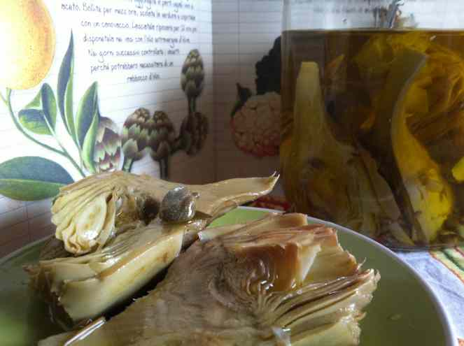 Ricetta: Carciofini sott olio (artichokes in oil)
