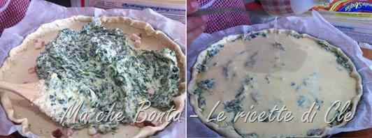 Ricetta: Quiche ricotta, spinaci e bacon (quiche with spinach and bacon)