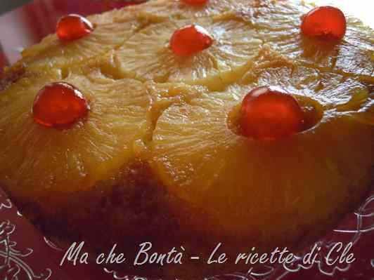 Ricetta: Torta rovesciata all ananas (pineapple upside-down cake)
