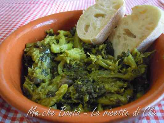 Ricetta: Cime di rapa stufate (braised broccoli)
