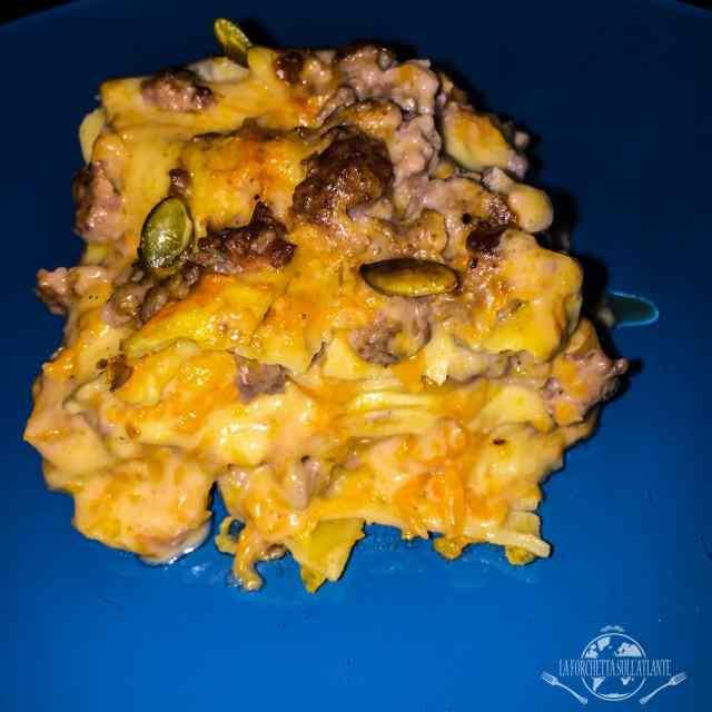 La mia lasagna con zucca butternut e salsiccia