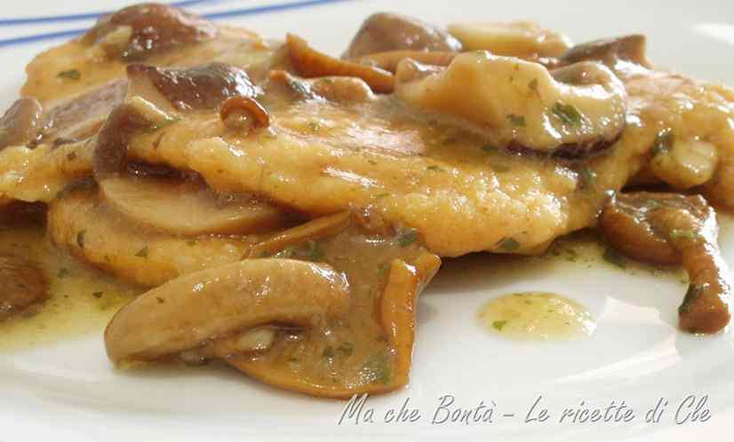 Ricetta: Cotolette di pollo con salsa ai funghi