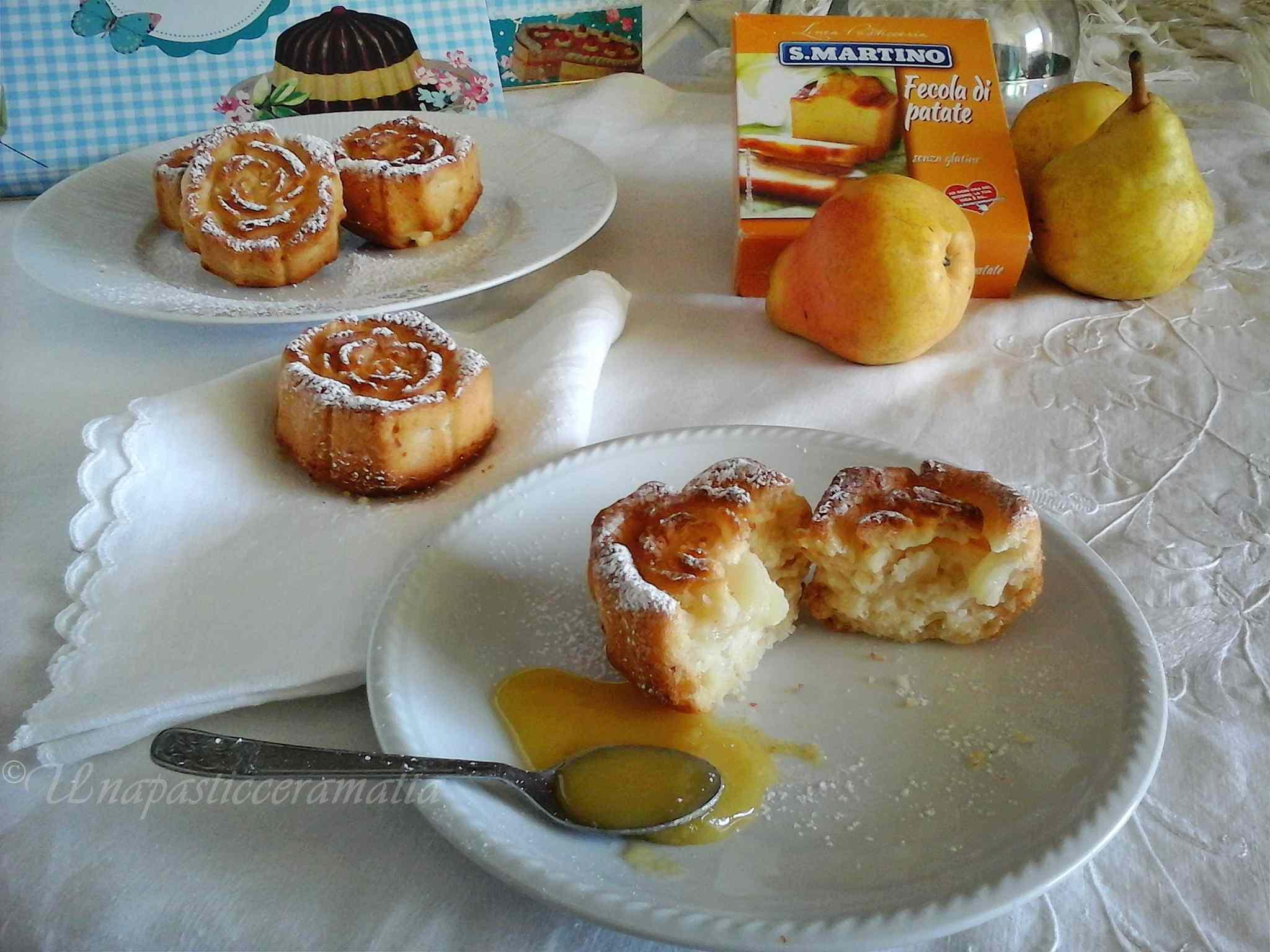 Ricetta: Roselline di pere e miele  con yogurt  soffici