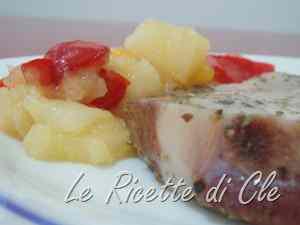 Ricetta: Braciole di maiale con salsa alle mele