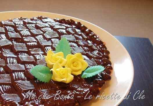 Ricetta: Crostata cioccolato e arancia con decorazione a canestro