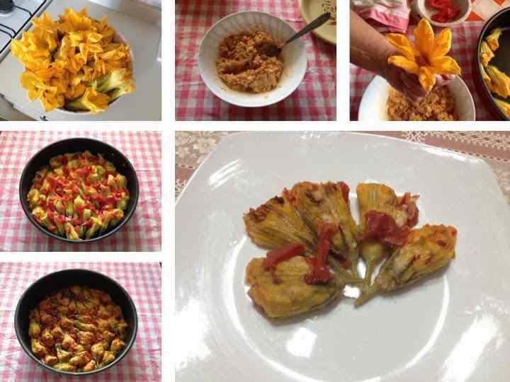 Ricetta: Fiori di zucchina ripieni