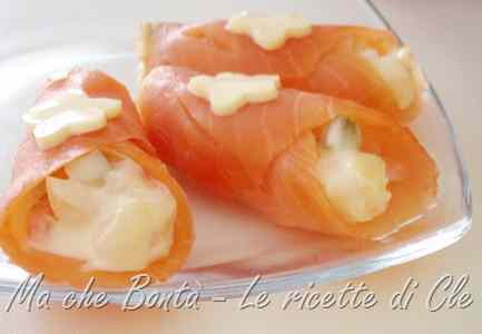 Ricetta: Conetti di salmone capricciosi