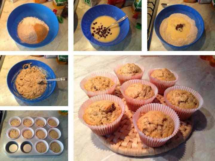 Ricetta: Muffin integrali con uvetta