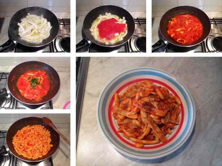 Ricetta: Cavatelli con sughetto di totani