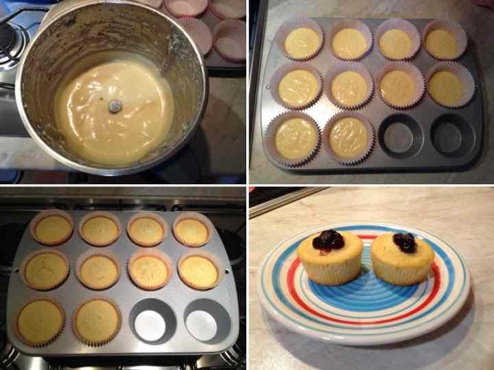 Ricetta: Cupcakes con cuore di marmellata