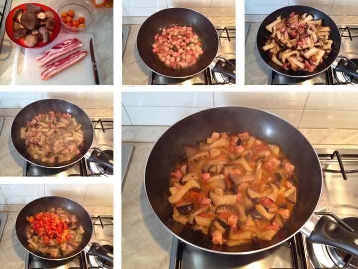 Ricetta: Tagliatelle con cardoncelli e pancetta