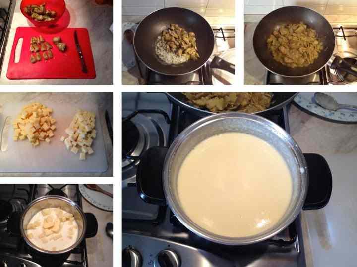 Ricetta: Lasagna con fonduta di formaggi e carciofi