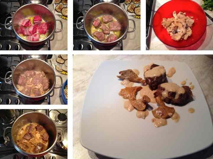 Ricetta: Bocconcini di carne con funghi