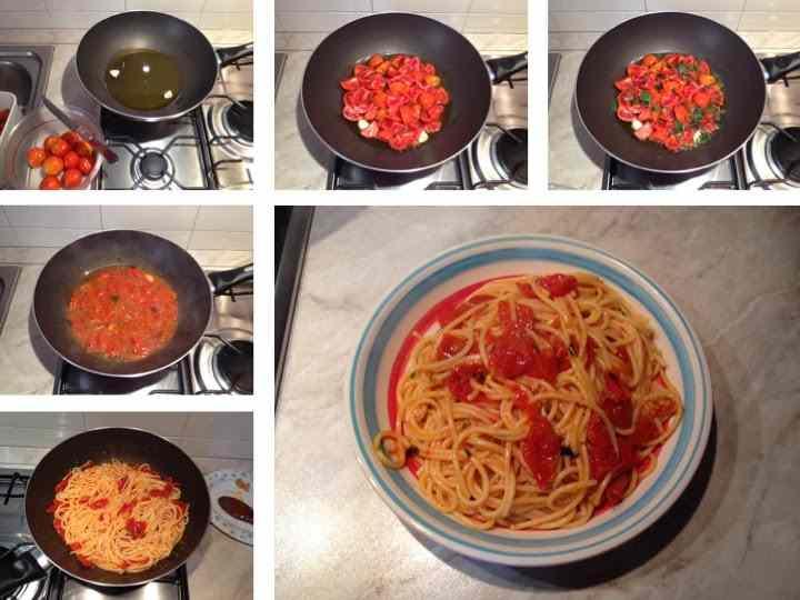 Spaghetti al volo