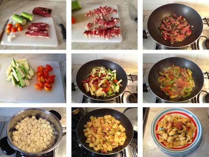 Ricetta: Orecchiette zucchine e speck
