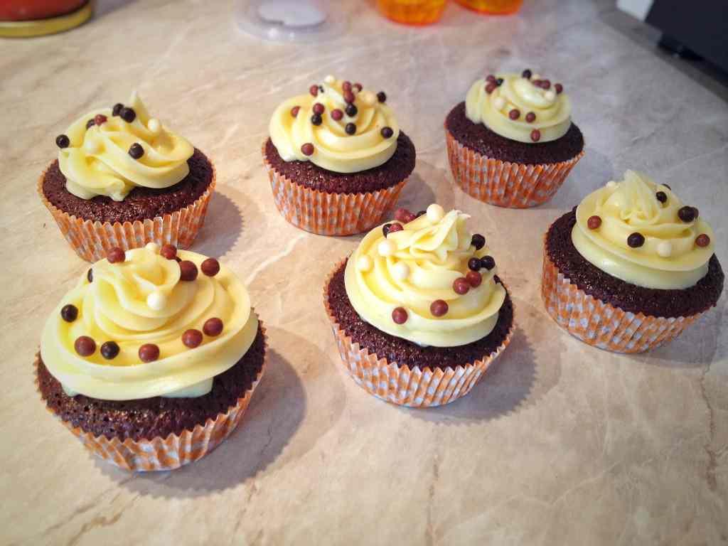 Ricetta: Cupcakes con ganache al cioccolato bianco
