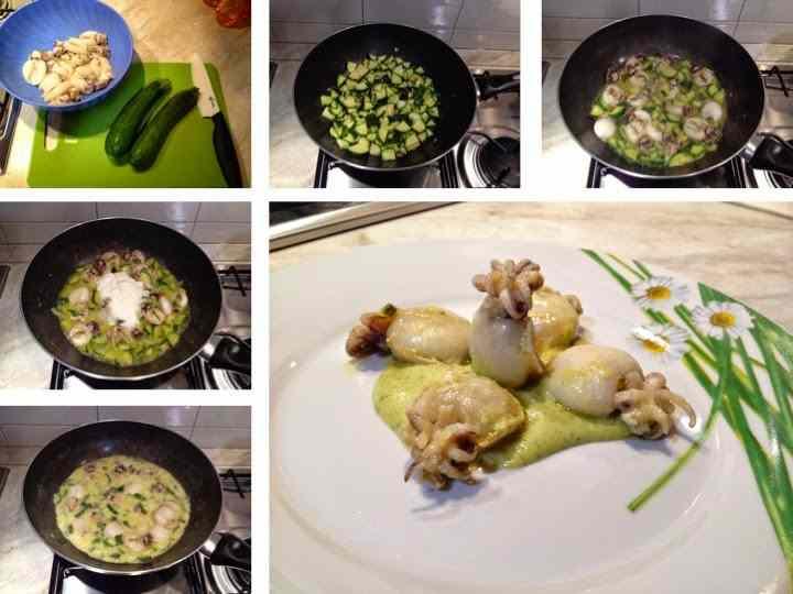 Ricetta: Seppioline con crema di zucchine