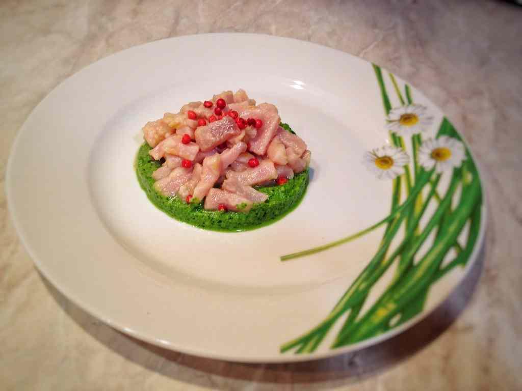 Ricetta: Tartare al tonno con pesto agli spinaci