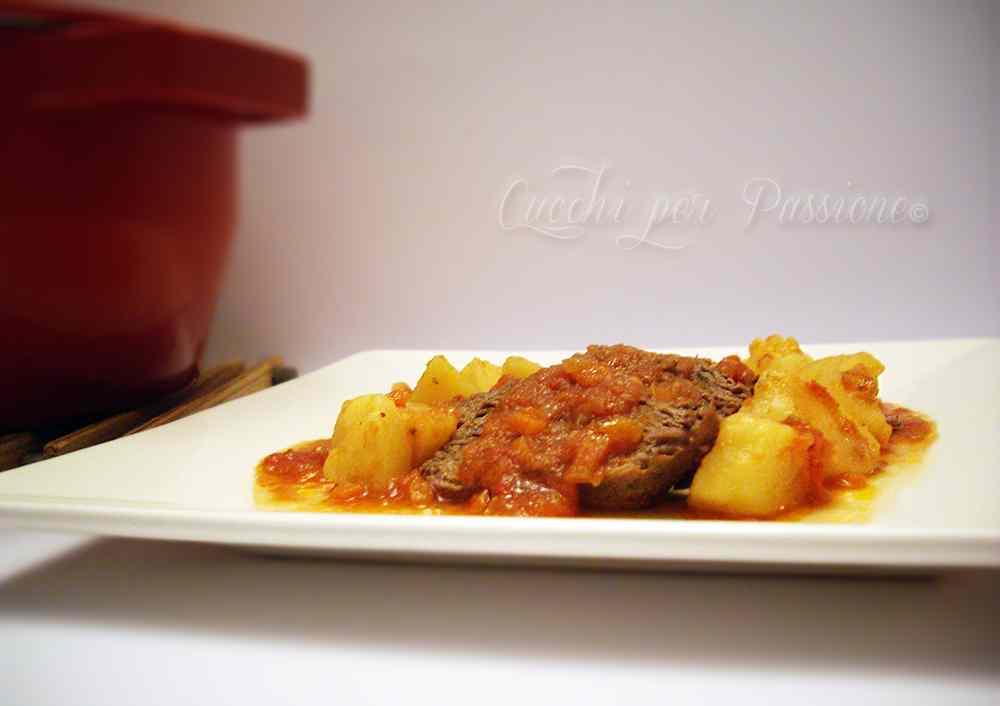 Brasato in rosso con Patate