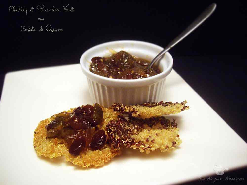 Chutney di Pomodori verdi con Cialde di Quinoa