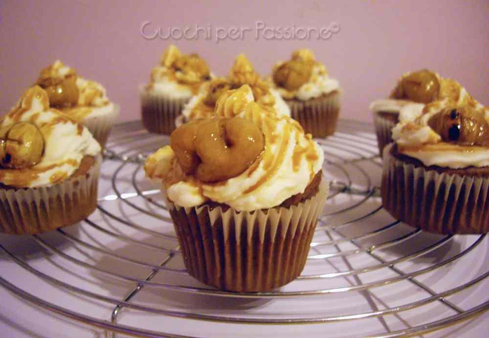 Ricetta: Cupcakes Autunnali con Castagne Glassate