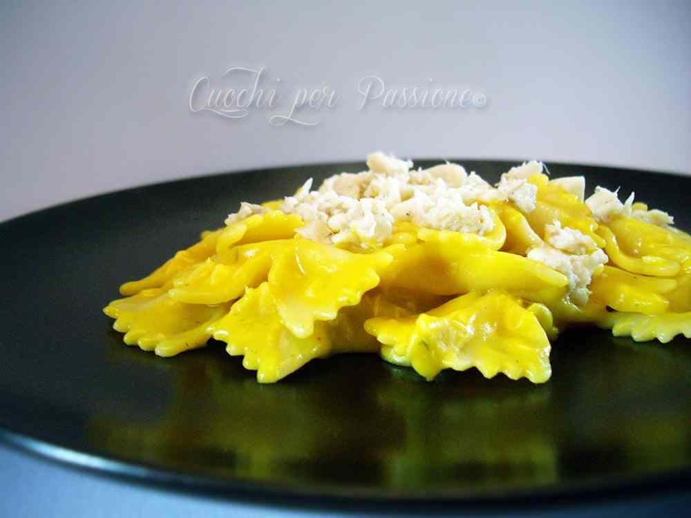 Ricetta: Farfalle con salsa allo Zafferano e Orata (ricetta riciclo)