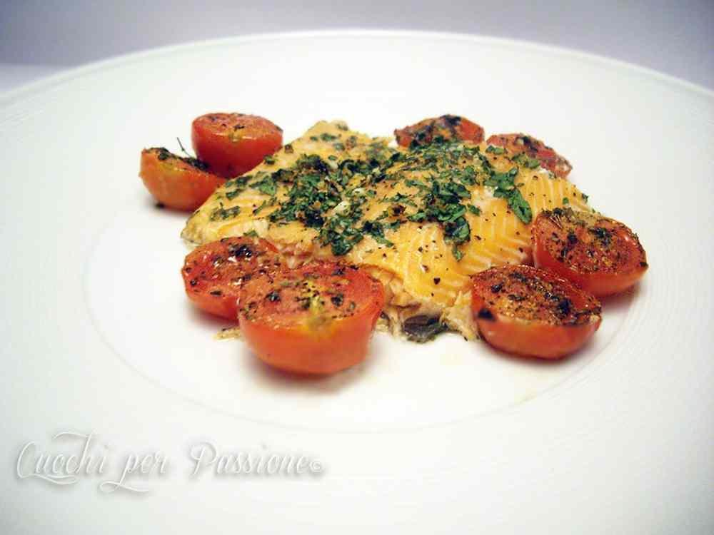 Ricetta: Filetto di Trota Salmonata al forno con Pomodorini