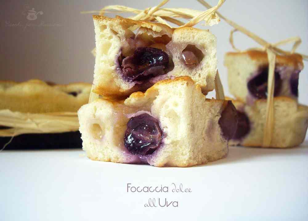Ricetta: Focaccia dolce all'Uva