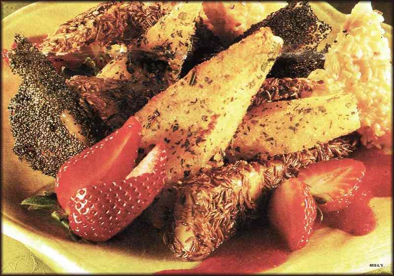 Ricetta: Formaggi Fritti con Salsa di Fragole