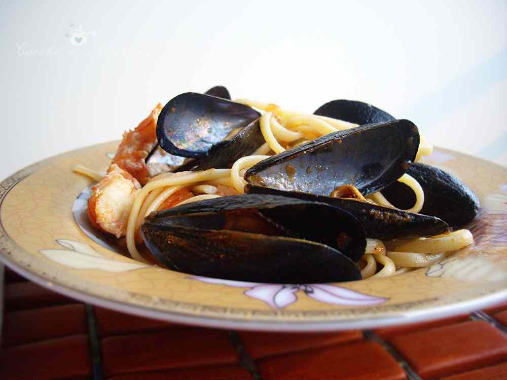 Ricetta: Linguine Cozze e Gamberoni