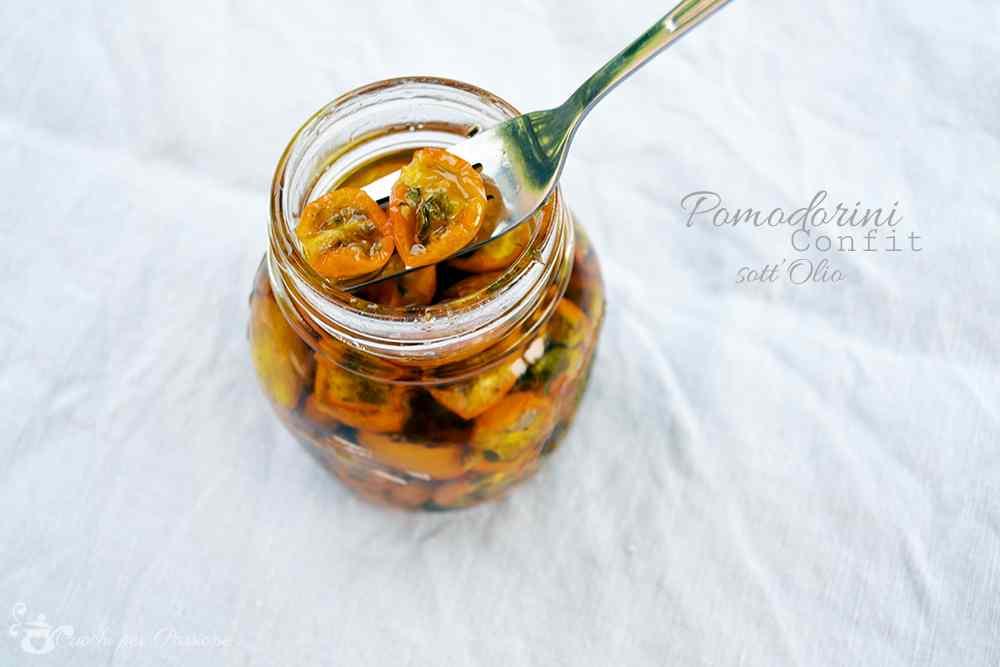Ricetta: Pomodorini Confit sott'Olio