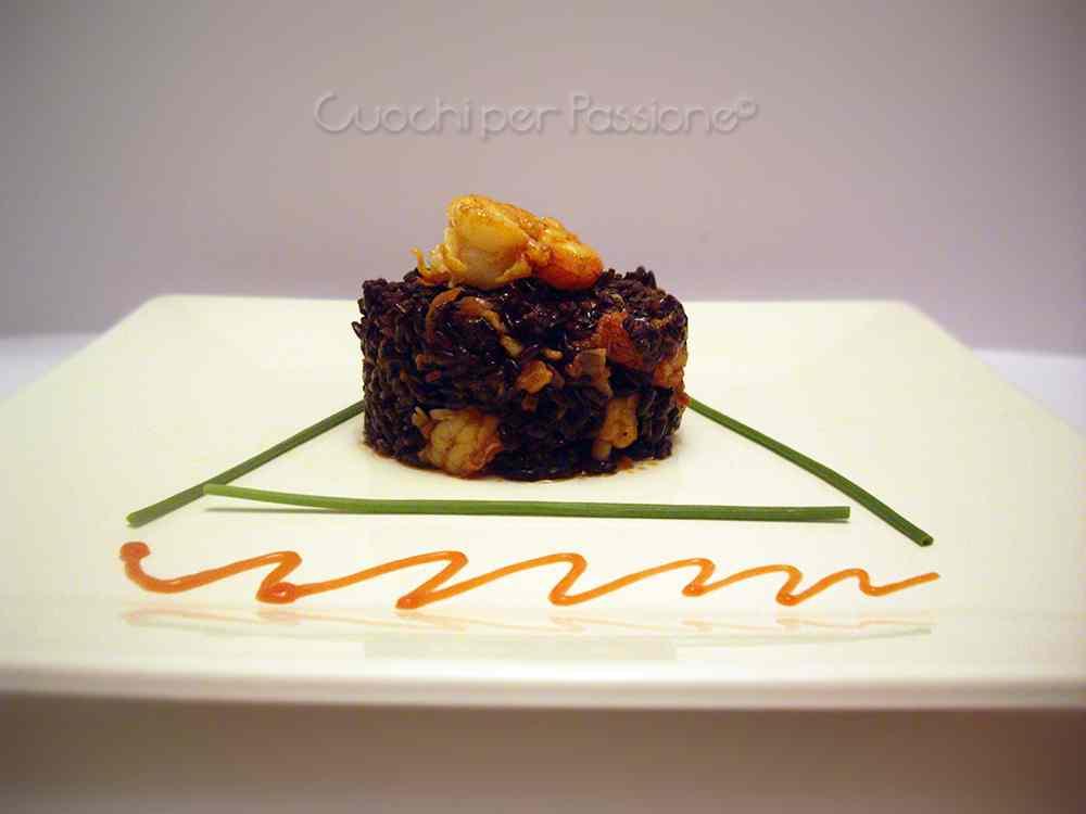Ricetta: Riso Venere con Gamberi al Pomodoro